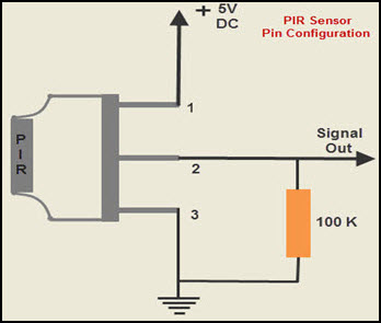 Pir sensor circuit and working with applications pin configuration of pir sensor ccuart Gallery