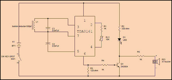 simple metal detector circuit