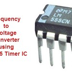 F to V using LM555 Timer IC Circuit