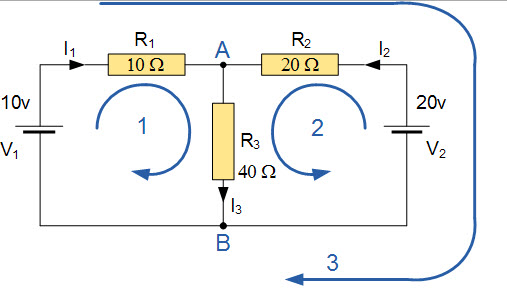 Example Circuit for KVL and KCL