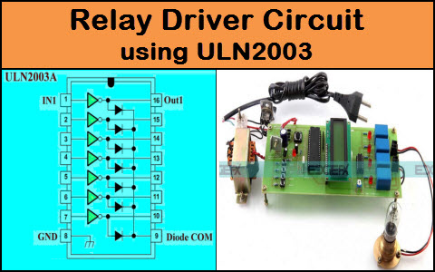 block diagram calculator relay driver circuit using ic uln2003 with applications  relay driver circuit using ic uln2003 with applications