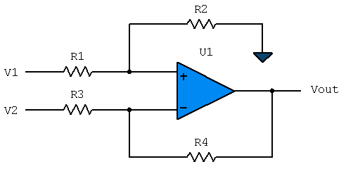 Op-Amp as a Differential Amplifier Circuit with Function