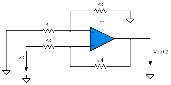 Op-Amp without V1 and R1