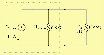 Norton's Theorem Equivalent Circuit