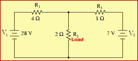 Nortons Theorem Example Circuit with Load Resistor