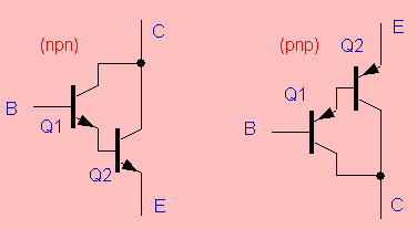 PNP and NPN Darlington Transistors