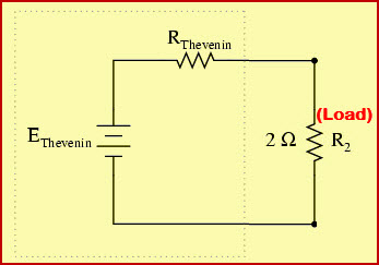 Thevenins Equivalent Circuit with Vth, Rth and Load Resistance