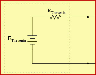 Thevenins Equivalent Circuit with Vth and Rth (Without Load Resistance)