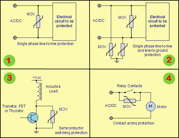 Varistor Applicaiton with Varistor Circuit
