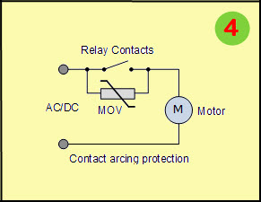 Varistor Circuit for Contact Arcing Protection