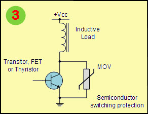 Varistor Circuit for Semiconductor Switching Protection