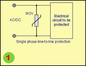 Varistor Circuit for Single Phase Line to Line Protection