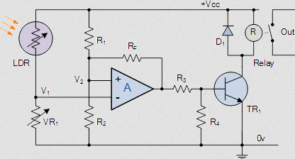 Wheatstone Bridge Light Detector Circuit
