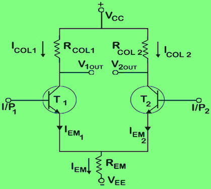 Differential Amplifier Circuit  using BJTs