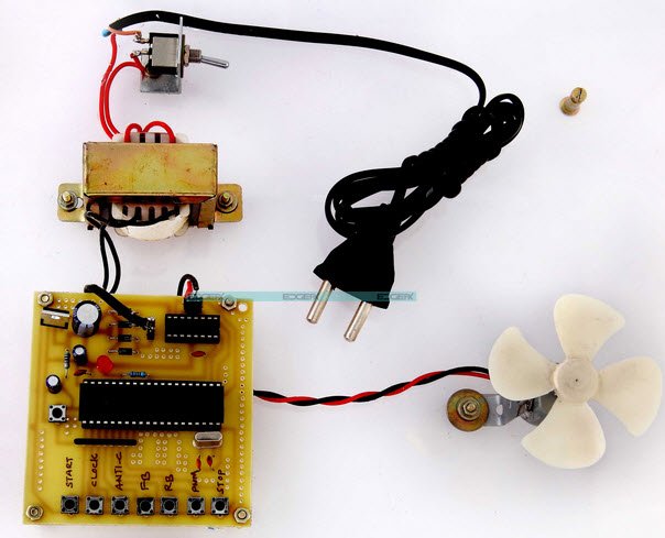 Four Quadrant DC Motor Speed Control with Microcontroller Project Circuit by Edgefxkits.com
