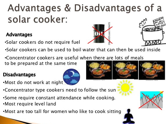 Advantages and Disadvantages of a Solar Cooker