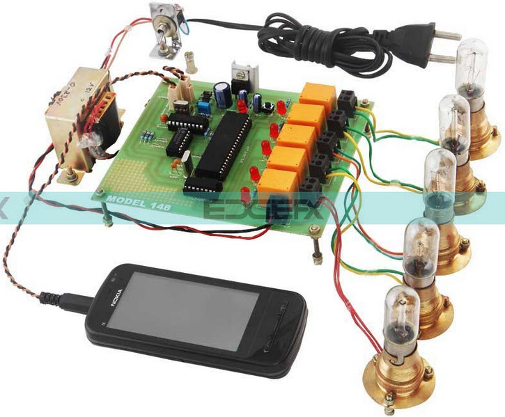 DTMF based Load Control System Project Kit by Edgefxkits.com