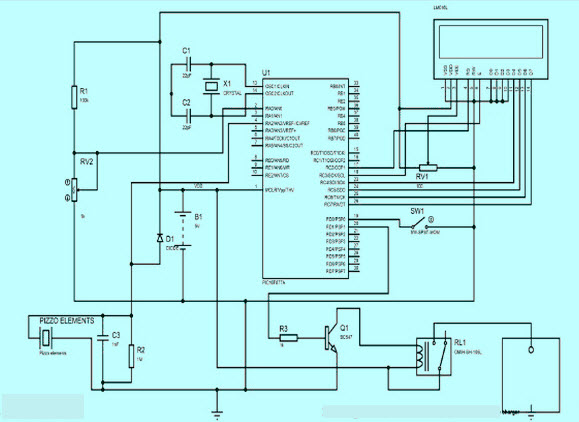 Footstep Power Generation System  Circuit Diagram