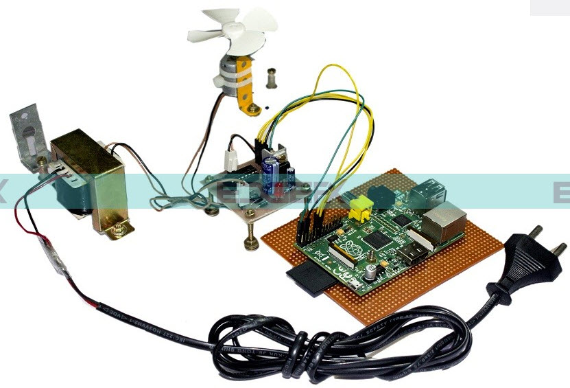 Raspberry Pi based Motor Speed Control Project Kit by Edgefxkits.com