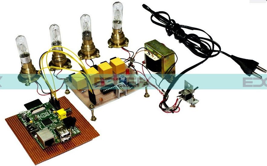 Raspberry Pi based Programmable Sequential Switching Project Kit by Edgefxkits.com
