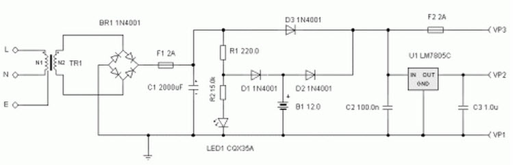 Uninterrupted Power Supply Circuit Diagram