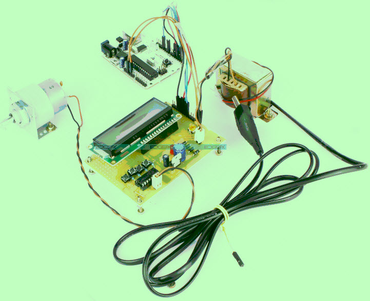 Arduino board based Speed Controlling of a DC Motor Project kit by Edgefxkits.com