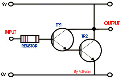 Darlington Transistor Pair Circuit