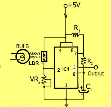 LDR based Electronic Counter Circuit