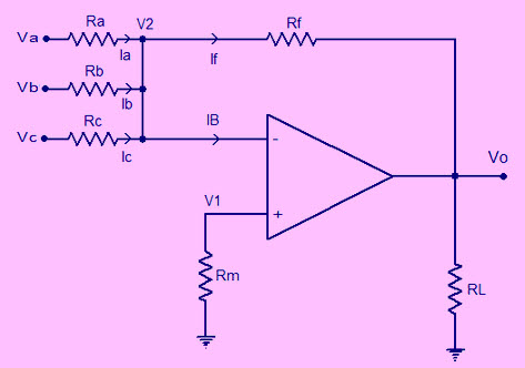 summing amplifier circuit diagram and its applications rh elprocus com