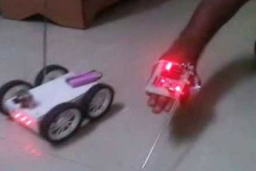 Accelerometer based Gesture Control Robot