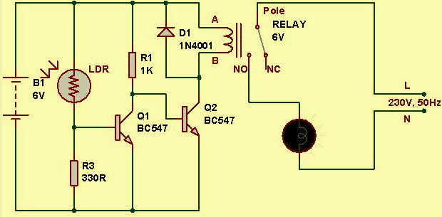 Practical Light Sensor Circuit Working Operation