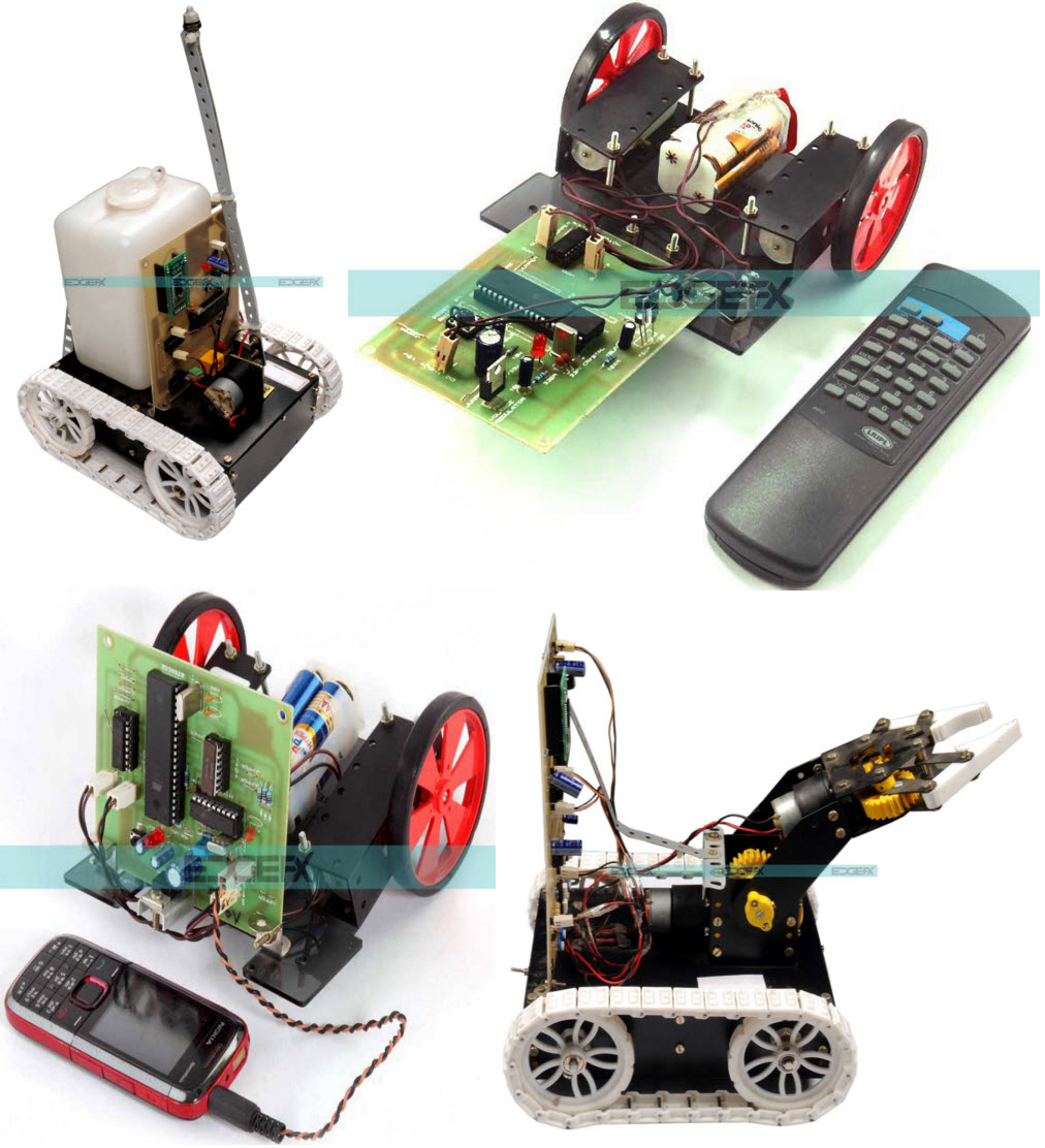 Line Follower Robotic Vehicle Walking And Climbing Project Circuit