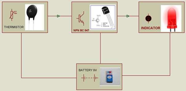Steps To Build Simple Fire Alarm Circuit Using Thermistor
