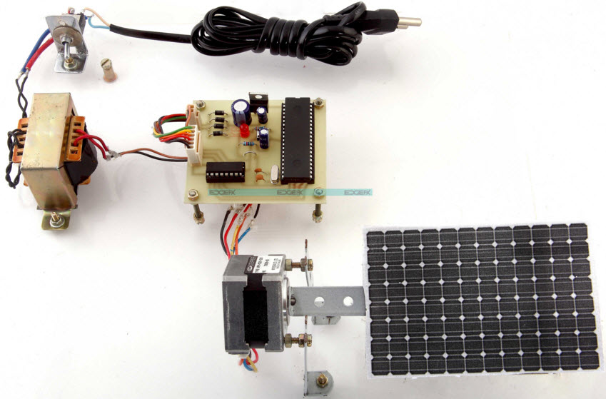 Time Programed Sun Tracking Solar Panel Project Kit by Edgefxkits.com
