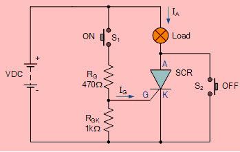 DC Thyristor Circuit