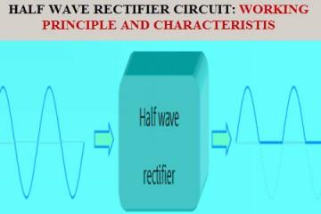 Half Wave Rectifier Working Principle & Characteristics