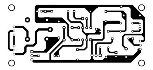 PCB Pattern of PIR Sensor based Power Saver