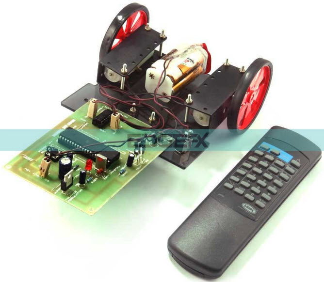 IR Sensor based Wireless Robotic Vehicle Project Kit