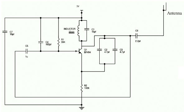 Mobile Jammer Circuit Diagram