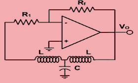 Hartley Oscillator using Op-Amp