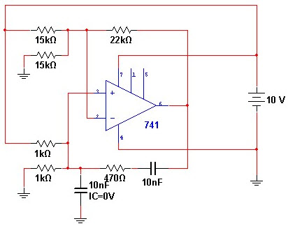 Wien Bridge Oscillator Using IC741