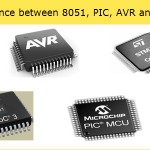 Difference between 8051, PIC, AVR and ARM