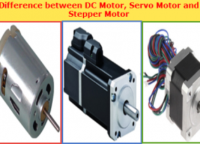 Difference between a DC motor, a Servo Motor, and a Stepper Motor