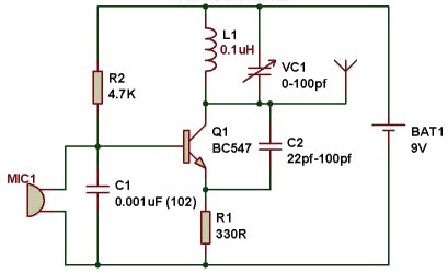 fm transmitter circuit working and its applications rh elprocus com wiring diagram temperature transmitter