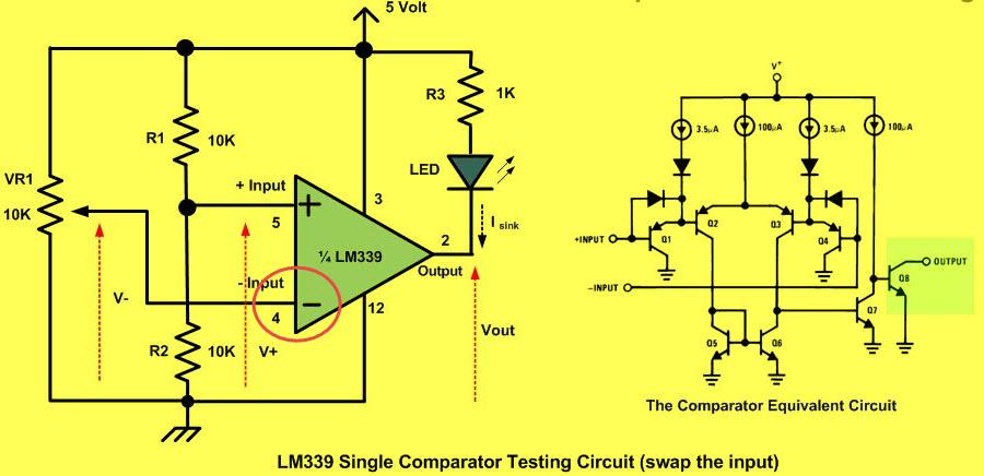 Inverting Comparator Circuit