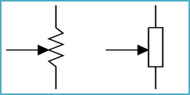 schematic symbols of a potentiometer
