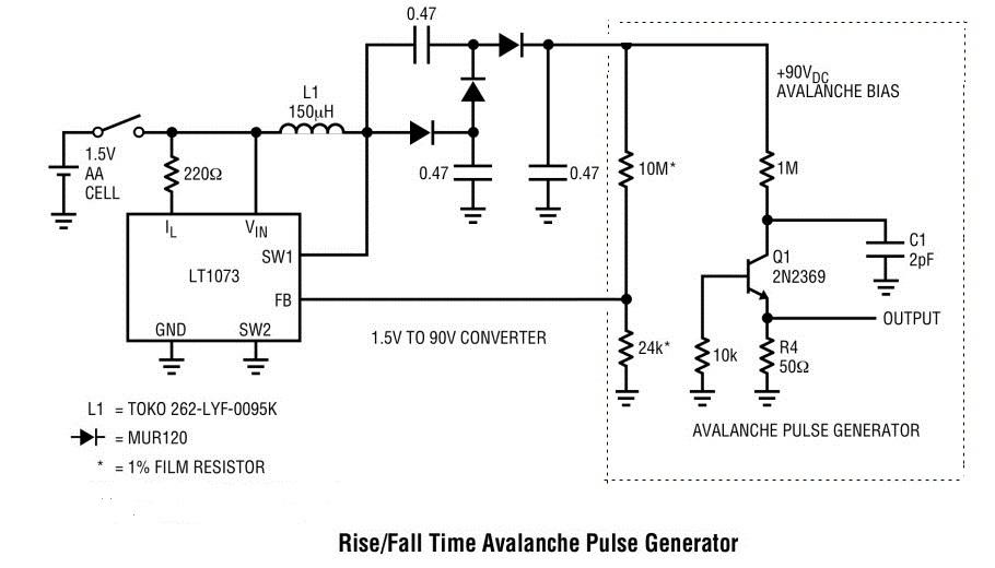 Avalanche Transistor Pulse Generator