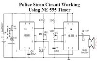 Police Siren Circuit Working Using NE555 Timer IC