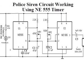 Police Siren Circuit Working Using NE555 Timer IC