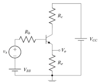 Common Collector Amplifier or Emitter Follower Circuit